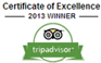 TripAdvisor - Certificate of Excellence 2013
